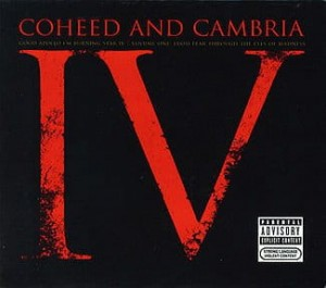 COHEED AND CAMBRIA - GOOD APOLLO I'M BURNING STAR IV VOLUME ONE:  FROM FEAR THROUGH THE EYES OF MADNESS