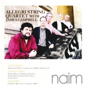 ALLEGRI STRING QUARTET WITH JAMES CAMBELL - SCHUBERT, STRAVINSKY